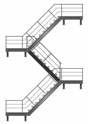 Лестницы на металлокаркасе в Москве