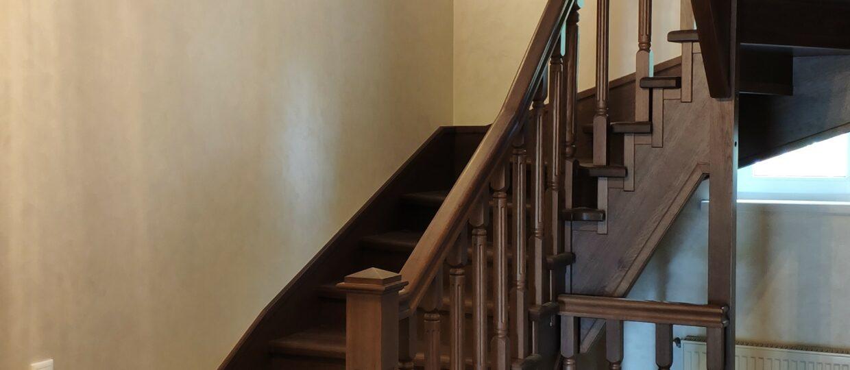 Пример лестницы на заказа в п. Рождественно
