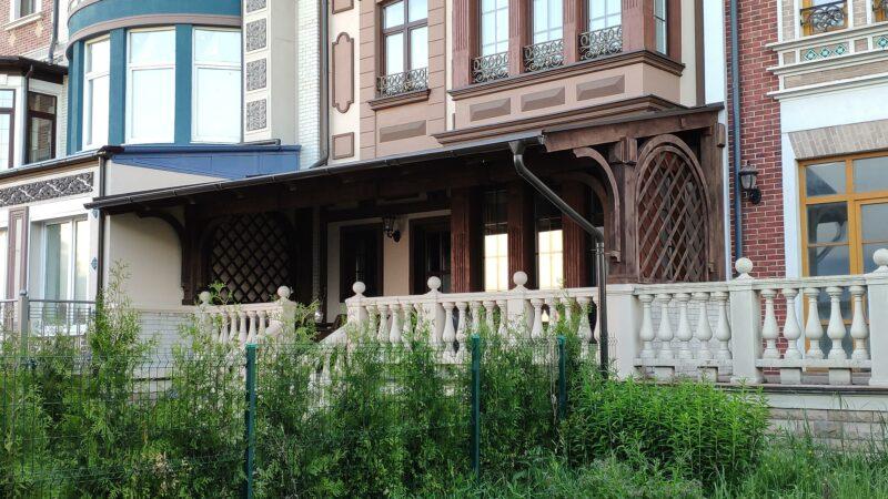 Пример по изготовлению навесов в посёлке Довиль