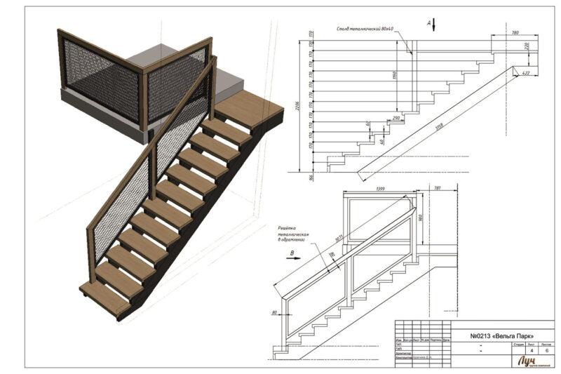 Как рассчитать крутизну лестницы